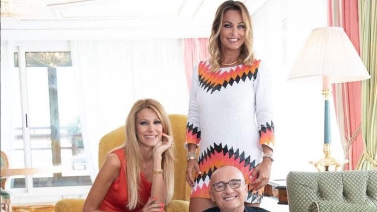 Adriana Volpe, Alfonso Signorini e Sonia Bruganelli